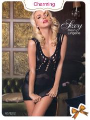 New Black Net Body Stocking Mesh Sexy Lingerie Nightwear SFB2032