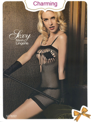 New Black Net Body Stocking Mesh Sexy Lingerie Nightwear SFB2021