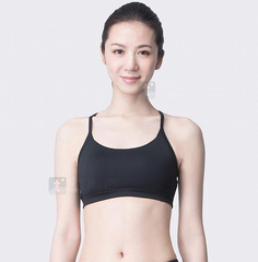 Black XXL Women Vest Running Sports Bra Top with Adjustable Strap ABR3950