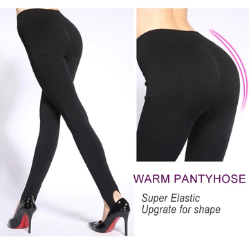 Plus Size Calorie Burn Body Shaping 680D Semi-oPaque Compression Pantyhose
