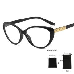 SkyBaby Women Glasses Retro Cat Eye Eyeglasses Optical Spectacle Frame Computer Reading Glasses #1