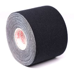 Kinesiology Tape Roll Cotton Elastic Adhesive Sports Muscle Patch Tape Bandage Physio Support black 2.5cm x 5m