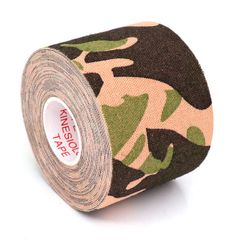 Kinesiology Tape Roll Cotton Elastic Adhesive Sports Muscle Patch Tape Bandage Physio Support green blue camo 5cm x 5m