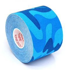 Kinesiology Tape Roll Cotton Elastic Adhesive Sports Muscle Patch Tape Bandage Physio Support blue camo 5cm x 5m