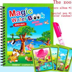 Magic watercolor doodle baby toys kids don't need pigment  Just draw with water Boys and girls like Sea world