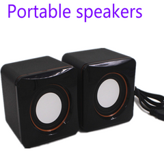 Speakers Computer Speakers USB Speakers Wired Speaker Small speaker Portable Pair Of Mini Speaker black