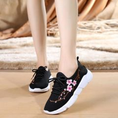 Sports Shoes Women Shoes Ladies Shoes Sneakers Women School Shoes Rubber Shoes For Women black 40