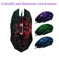 Mouse Wired Computer Mouse Game Mouse Luminous Mouse For Work And Games Mouse Mousees For Computer black normal