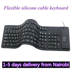 Keyboard Silica Keyboards 85 Key Silica Soft Keyboard USB Foldable Portable Wired Computer Keyboard black normal