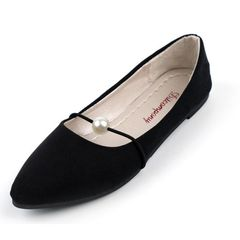 Shoes Women's Shoes Women Boots Ladies Boots Pointed Bead Pump Suede Flats Boots For Women Shoe Lady Black 41