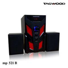 TAGWOOD LS-521B Woofer  Multimedia Subwoofer Speaker System 2.1 with MP3, Bluetooth,FM Radio black 5800w pmpo. LS-521B