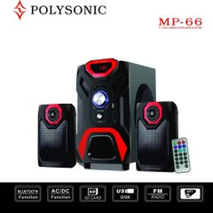 POLYSONIC MP-66 Multimedia Woofer  Blutooth Speaker System black 5500w pmpo. MP-66