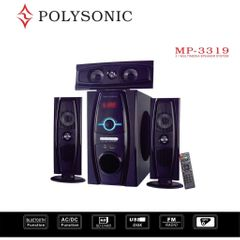 POLYSONIC MP-3319 3.1CH  Subwoofer HOME THEATER BLUETOOTH SPEAKER SUB-WOOFER SYSTEM black 8000w pm.po MP-3319