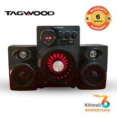 (Anniversary Special Offer)TAGWOOD LS-421A  2.1CH SUBWOOFER SPEAKER BLUETOOTH,FM,SB/USB 6000W PMPO black 6000W PMPO. LS-421A