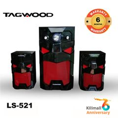 (Anniversary Special Offer)TAGWOOD LS-521A Woofer Subwoofer Speaker System 2.1CH MP3, Bluetooth black 8800W PMPO. LS-521A