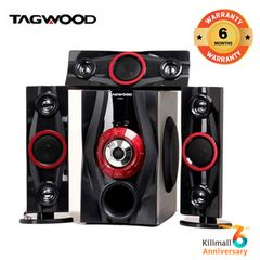 (Anniversary Special Offer)TAGWOOD LS-631A  Woofer  3.1 Speaker SUBWOOFER WITH BLUETOOTH,FM,SB/USB black 9800W PMPO. LS-631A