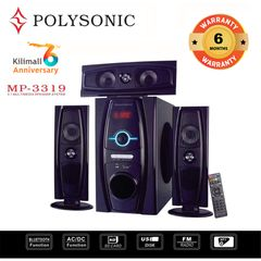 (Anniversary Special Offer)POLYSONIC MP-3319 3.1CH  Subwoofer BLUETOOTH SPEAKER SUB-WOOFER SYSTEM black 8000w pm.po MP-3319