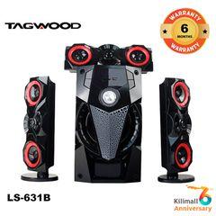 (Anniversary Special Offer)TAGWOOD LS-631B  3.1 SUBWOOFER WITH BLUETOOTH,FM,SB/USB black 9800w pmpo. LS-631B