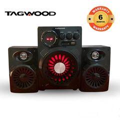TAGWOOD LS-421A  2.1CH WOOFER SPEAKER BLUETOOTH,FM,SB/USB 6000W PMPO black 6000W PMPO. LS-421A