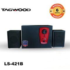 TAGWOOD LS-421B Woofer Multimedia Speaker System 2.1CH Bluetooth,FM Radio black 5800W PMPO. LS-421B