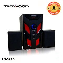 TAGWOOD LS-521B Woofer  Subwoofer Speaker System 2.1CH MP3 Bluetooth black 5800w pmpo. LS-521B