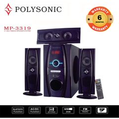 POLYSONIC MP-3319 3.1CH  Subwoofer BLUETOOTH SPEAKER SUB-WOOFER SYSTEM black 8000w pm.po MP-3319