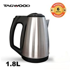 Tagwood 1.8L High Quality Electronic 1500W Kettle silver