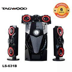 TAGWOOD LS-631B  3.1 SUBWOOFER WITH BLUETOOTH,FM,SB/USB black 9800w pmpo. LS-631B