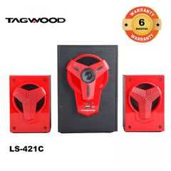 TAGWOOD LS-421C Woofer Multimedia Speaker System 2.1 with Bluetooth black 5800w pmpo. LS-421C