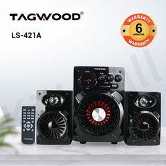 TAGWOOD LS-421A  2.1CH WOOFER Home Audio SPEAKER BLUETOOTH,FM,SB/USB 6000W PMPO black 6000W PMPO. LS-421A