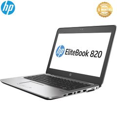 HP Refurbished Elitebook 820 Core i5 4GB 500GB HDD NO OS HP Laptop black 12 inches