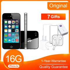 Refurbished iPhone4S 518MB RAM 3.5inch  5.0 MP Unlocked Smart Apple iOS iPhone 4s Black 16G