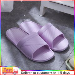 women House slipper ladies non-slip male household soft bottom household wear shoe shoes purple 40-41(Suitable for size 39-40)