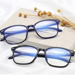 【Faster Delivery】bargain  Spectacle Frames  Retro anti-blue glasses,, glasses frame, flat mirror black