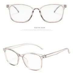 【Faster Delivery】Spectacle Frames  Retro anti-blue glasses, personality, glasses frame, flat mirror transparent