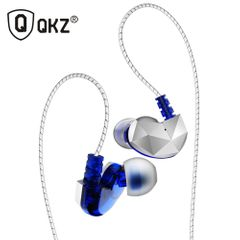 QKZ CK6 In-Ear Earphones High Bass Dual Drive Headset With Microphone Earbuds For iPhone Android Blue