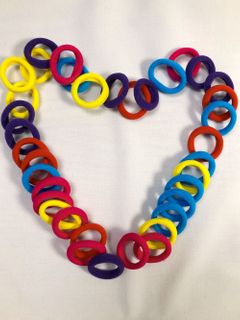 50pcs bag rubber band girl candy color headband hair ring... Random delivery Random delivery