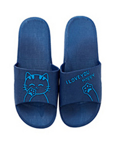 Bath at home non-slip indoor slippers bathroom soft-soled couples sandals Blue 44