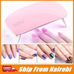 SUNmini UV LED Lamp Mini Portable Nail Dryer With USB Cable Gel Nail Polish Dryer Gift Home Travel white