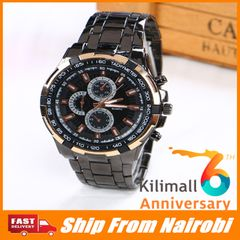 Mens Fashion Casual Military Quartz Sports Wristwatch Full Steel  Men's Watches type2 one size