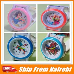 Children's Cartoon Watches  Snow White Spiderman Watch Silicone Watch Cartoon Kids Watch Snow White one size