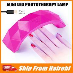 Mini 9W USB LED Lamp Nail Dryer Rainbow Shape Curing Machine UV Gel Polish Nail Art Tool MH88 white
