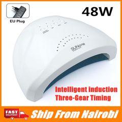 48W Professional LED UV Nail Lamp for nail gel polish led Light Nail Dryer UV Lamp FBK white