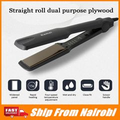 Electric Plywood Electric Iron Ceramic Perm And Electric Hair Straightener Perm Hair Curling Hair as picture one size