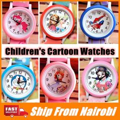 Children's Cartoon Watches  Snow White Spiderman Watch Silicone Watch Cartoon Kids Watch Spiderman one size