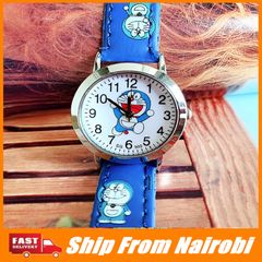 Kids Watch Cartoon Hello Kitty cute girl kt cat Doraemon boy leather quartz watch type2 one size