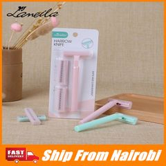 Stainless Three-layer Blade Ladies Shaving Knife T-type Hair Remover Tools For Underarm Body green one size