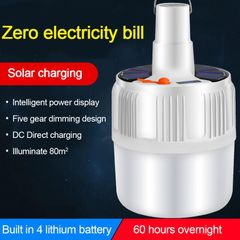 42LED Rechargeable LED Bulb Lamp Solar Charge Portable Emergency Market Light Outdoor Camping Home white one size as picture