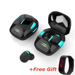 [Free Gift]Newest Colorful Gaming Music TWS Wireless Bluetooth Earphones With Charging Bin Full Frequency type1