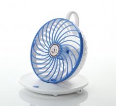 Coffee cup USB electric desk fan blue